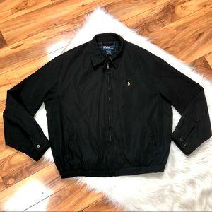 Mens Polo Ralph Lauren Black Jacket Zip Golf Pony